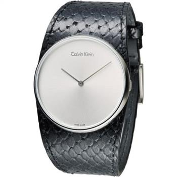 CK 唯我獨秀潮流皮帶錶-黑(K5V231C6)