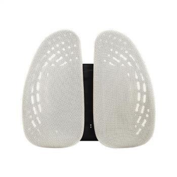 Birdie-德國專利雙背護脊墊/辦公坐椅護腰墊/汽車靠墊-潔米白