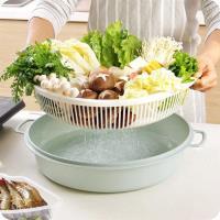 火鍋蔬菜瀝水籃 水果 洗菜 瀝乾 清洗 晾乾 火鍋盤