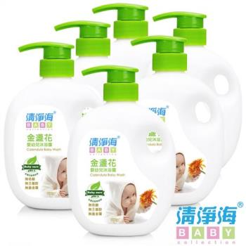 清淨海 BABY系列金盞花嬰幼兒沐浴露 600g(超值6入組)