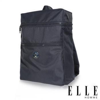 【ELLE HOMME】巴黎風輕旅商務大容量機能後背包-藍 EL83893