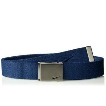 【Nike】2018金屬扣標誌棉軟織帶大學藍色皮帶(預購)