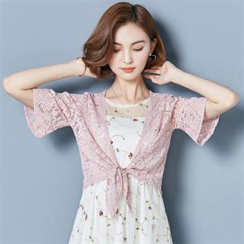 ALLK 蕾絲編織罩衫外套 共3色(尺寸M-XL)