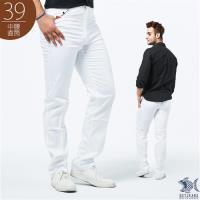 NST Jeans 大叔帥很大 純棉彈性白色長褲(中腰)
