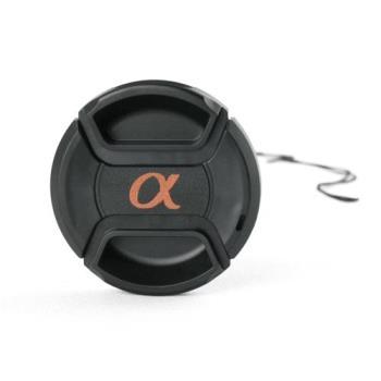 Green.L副廠Sony鏡頭蓋77mm鏡頭蓋C款alpha α字樣附孔繩