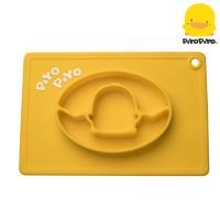 黃色小鴨PiyoPiyo-一體式防滑矽膠餐盤