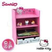 Hello Kitty Pinkholic凱蒂貓 美妝收納櫃 桌上收納 文具收納 飾品收納(正版授權台灣製)
