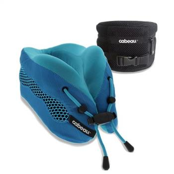 CABEAU酷涼記憶棉頸枕2.0-沁藍