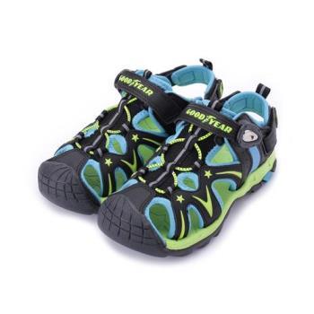 GOODYEAR 護趾磁扣運動涼鞋 藍綠 GAKS88075 中大童鞋 鞋全家福