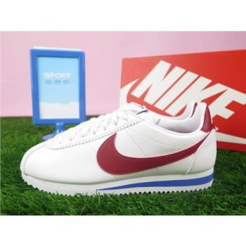 Nike WMNS CLASSIC CORTEZ LEATHER 阿甘鞋 休閒鞋 正品 807471103 女款 紅白藍經典款