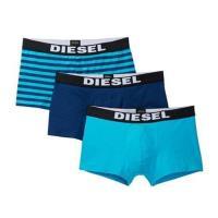 Diesel 男彈力棉Rocco藍色系列四角內著混搭3件組(預購)