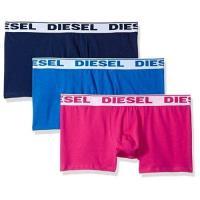 Diesel 男彈力棉Shawn雙藍桃紅四角內著混搭3件組(預購)