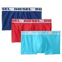 Diesel 男彈力棉Shawn藏青藍紅四角內著混搭3件組(預購)