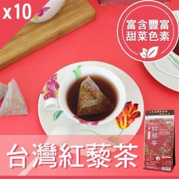 【Mr.Teago】台灣紅藜茶/養生茶-3角立體茶包(22包/袋)-10袋/組
