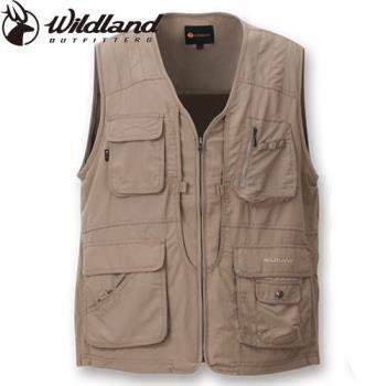 【Wildland 荒野】大尺碼中性透氣UV多口袋背心休閒釣魚露營好方便-共4色