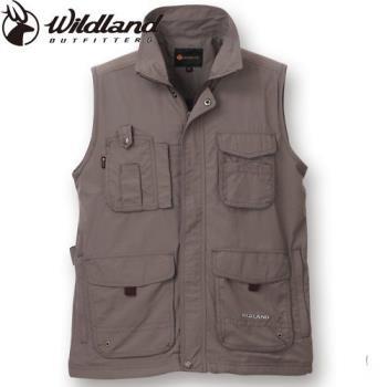 【Wildland 荒野】大尺碼中性透氣抗UV多口袋背心休閒釣魚露營好方便-共4色