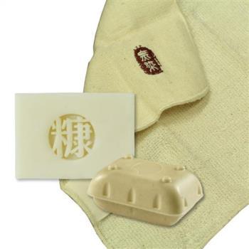 手工糠皂 嬰兒皂100g*1+Baby無染紗布巾*1