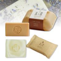 手工糠皂 潔顏皂80g*1+黃香木皂120g*1
