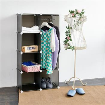 HR安室家 魔術空間8格衣櫥組合櫃(附門4片) -HP83