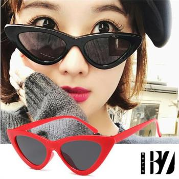 BeLiz三角貓眼 歐美大方膠框墨鏡 紅