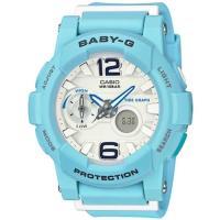 CASIO BABY-G BGA-180BE衝浪滑板極限運動雙顯女錶-藍(BGA-180BE-2B)