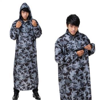 東伸 DongShen 旅行者迷彩半開式輕量型雨衣