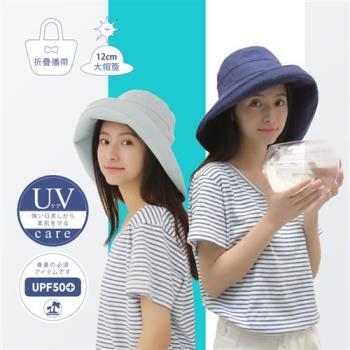 日本COGIT 寬大帽檐簡約素面防曬漁夫帽