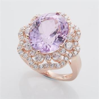 美帝亞精品級珍稀孔賽石戒指
