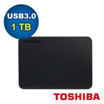 Toshiba 東芝 2.5吋 A3 Basic 1TB USB3.0 外接式硬碟 (黑)-HDTB410AK3AA
