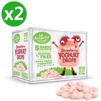 【小兒利撒爾】紐西蘭 Kiwigarden 益菌優格豆 新鮮草莓2盒組(9gX5包/2盒)