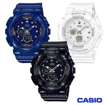 CASIO BABY-G酷炫鉚釘時尚運動腕錶/BA-125-1A