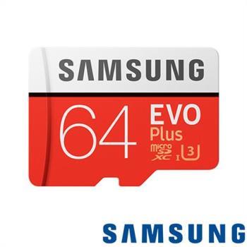 Samsung 三星 EVO Plus 64GB micro SDHC 記憶卡