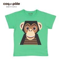 【BabyTiger虎兒寶】COQENPATE 法國有機棉童趣 短袖 T-SHIRT - 黑猩猩