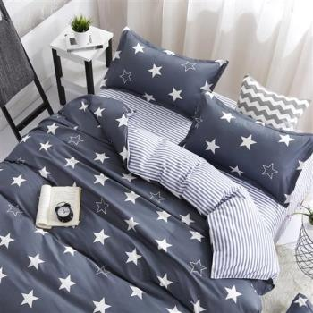 情定巴黎-北歐星空 原創天使絨雙人四件式涼被床包組