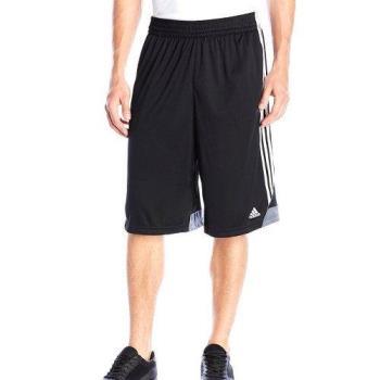 Adidas 2018男時尚籃球3G速度2.0黑色白線短褲(預購)