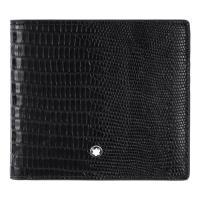 MONTBLANC 萬寶龍大班系列鱷魚壓紋4卡零錢包短夾-黑 116293