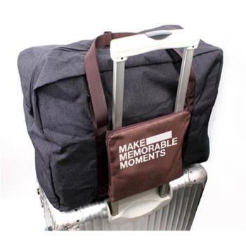 E.City_復古文青風旅行折疊拉桿行李袋