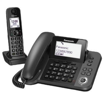 【贈Panasonic 輕巧電動刮鬍刀】Panasonic國際牌 親子機DECT數位無線電話KX-TGF310TWJ (日本製)