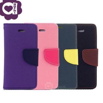 OPPO R11s 馬卡龍雙色系列 側掀支架式手機皮套磁吸扣帶-紫粉藍黑棕多色可選