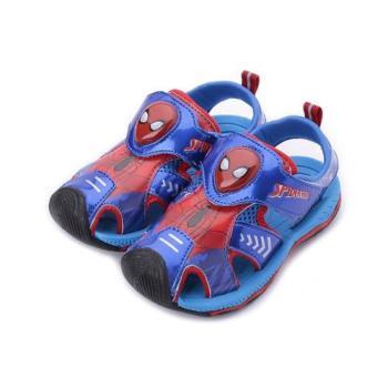 蜘蛛人 蜘蛛人護趾電燈涼鞋 藍紅 MNKT89116 中大童鞋 鞋全家福