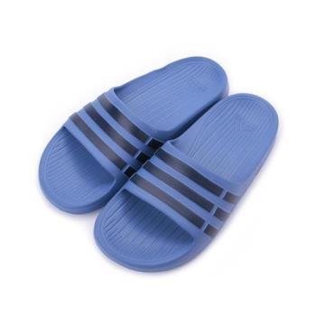 ADIDAS DURAMO SLIDE K 一體成型套式拖鞋 藍黑 CP9383 小童鞋 鞋全家福