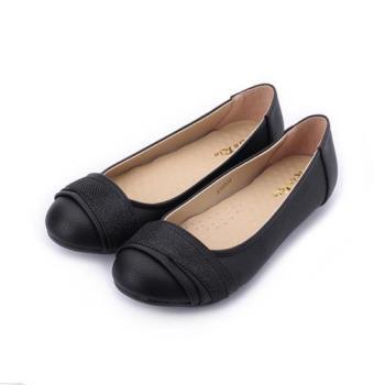 RIN RIN 金蔥飾帶平底鞋 黑 女鞋 鞋全家福