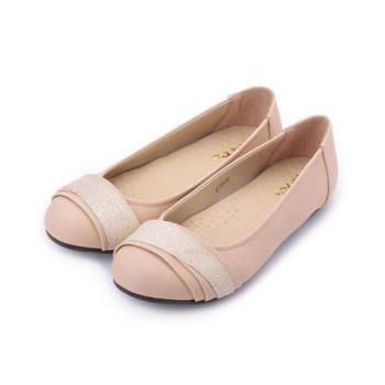 RIN RIN 金蔥飾帶平底鞋 粉 女鞋 鞋全家福