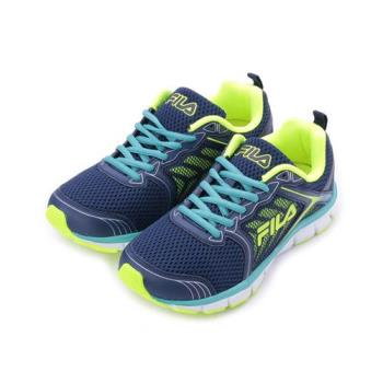 FILA 限定版螢光輕量跑鞋 藍螢綠 1-J329S-336 男鞋 鞋全家福