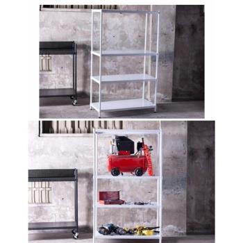 A+生活館(鐵力士空間)烤漆白四層沖孔板45X90X180cm 鐵架