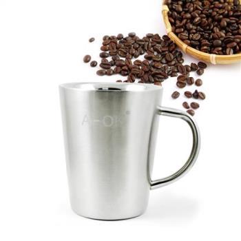 【三零四嚴選】#304不鏽鋼簡約美式咖啡杯 1入 (不含蓋/400cc/個)