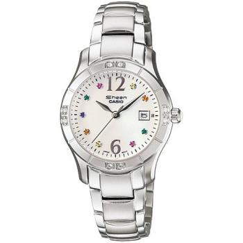 CASIO SHEEN 美麗彩鑽時尚鋼帶女錶(珍珠貝) SHN-4019DP-7A