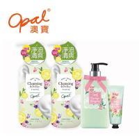 OPAL澳寶 高濃度沐浴精華乳(清爽型)x2+植物酵素橙花高保濕肌膚寵愛組