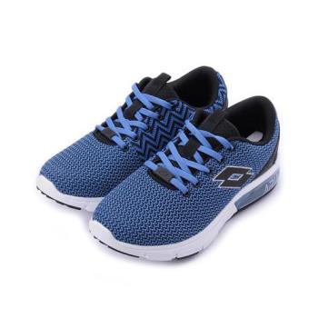 LOTTO 編織氣墊跑鞋 藍 LT6586 男鞋 鞋全家福