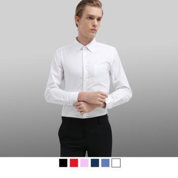 男人幫 商務休閒長袖加大尺碼商務襯衫 (S5190)